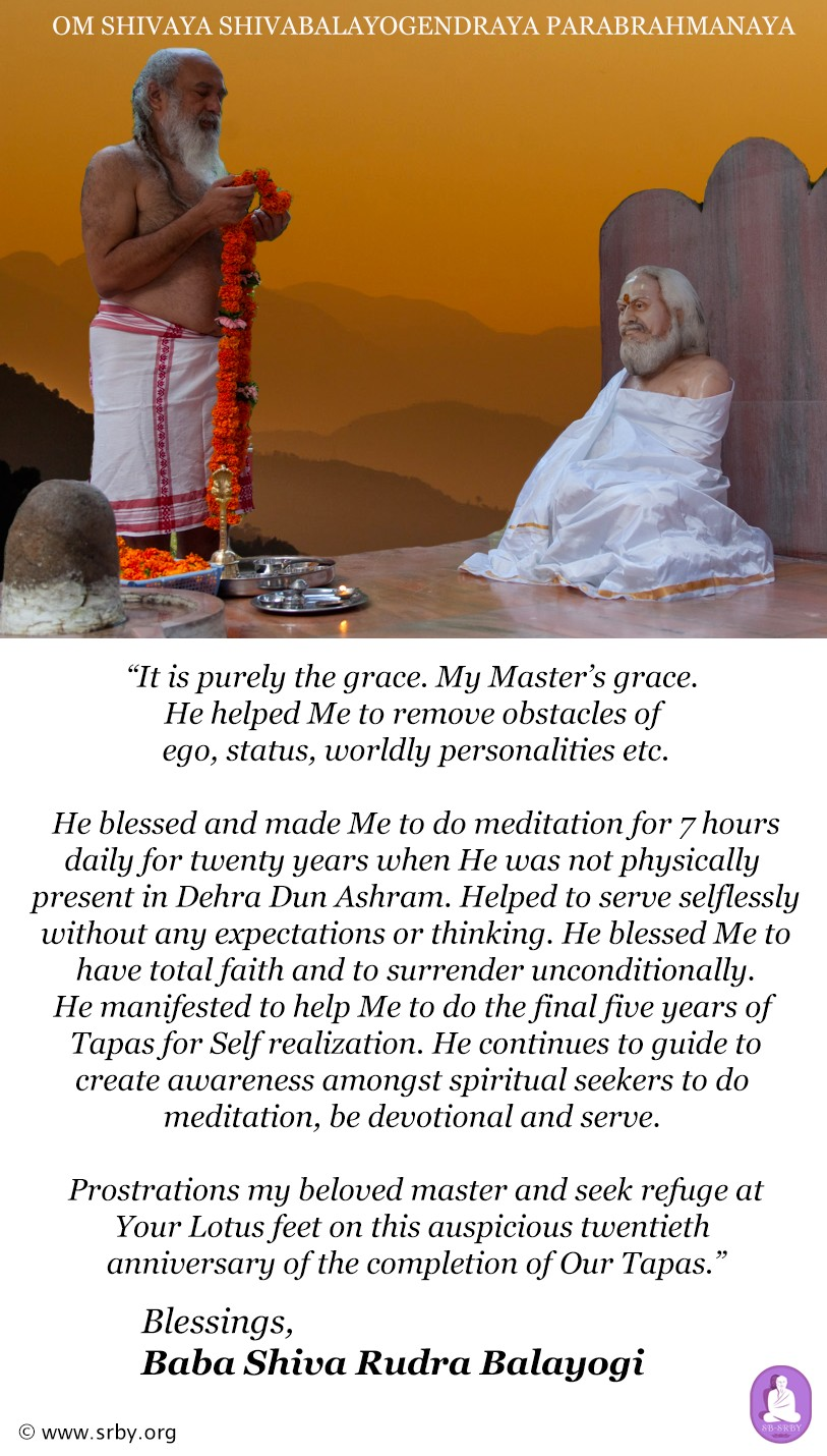 babaji tapas purthi message nov 2019